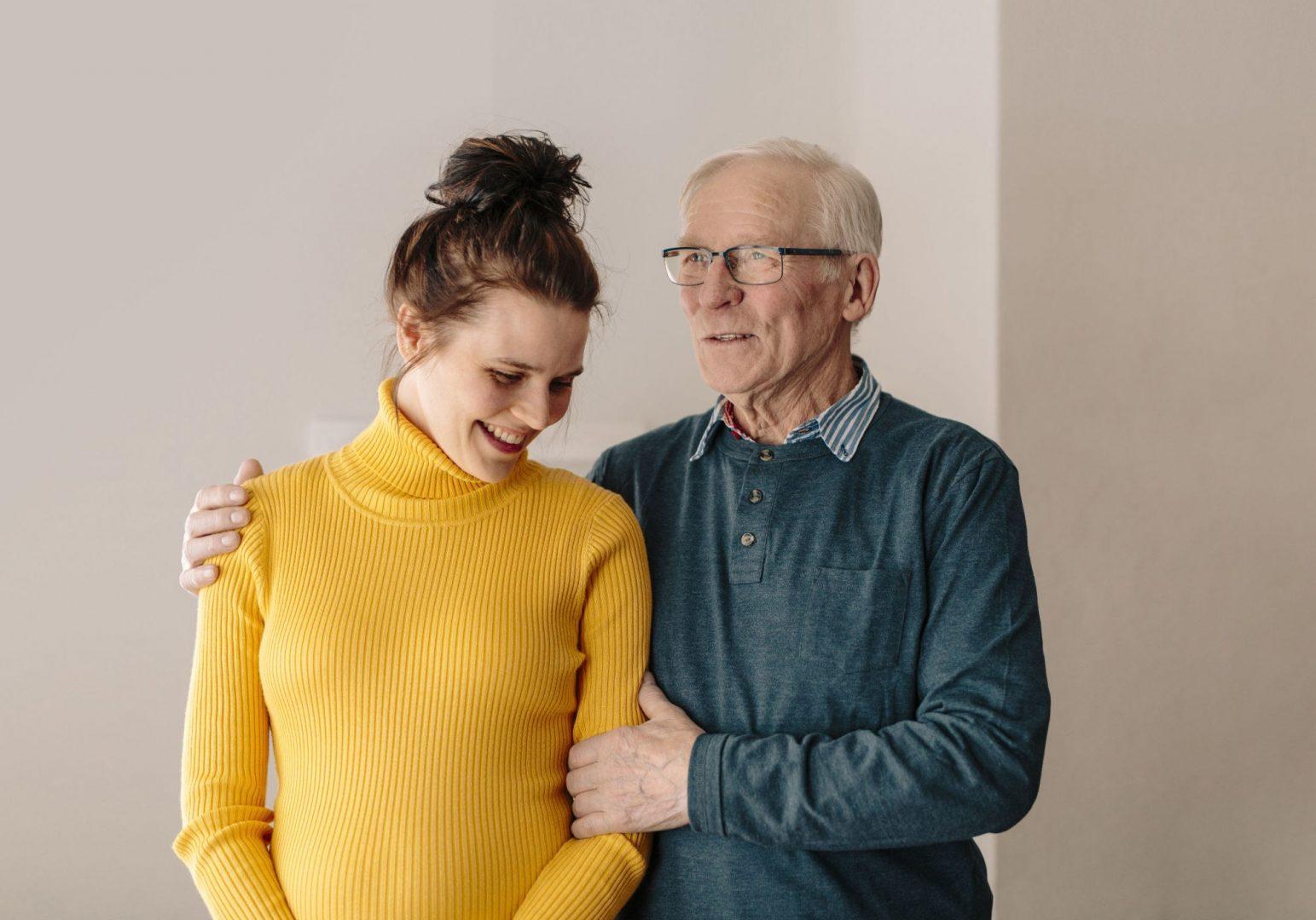 Simone og bestefar
